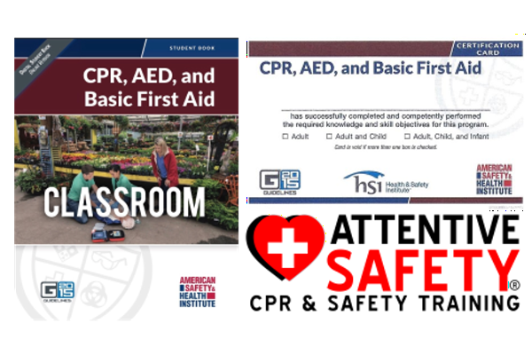 CPR, AED, and Basic First Aid - Attentive Safety CPR and Safety Training