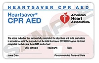 Attentive Safety CPR and Safety Training Heartsaver CPR AED Card