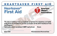 Attentive Safety CPR and Safety Training Heartsaver First Aid Card