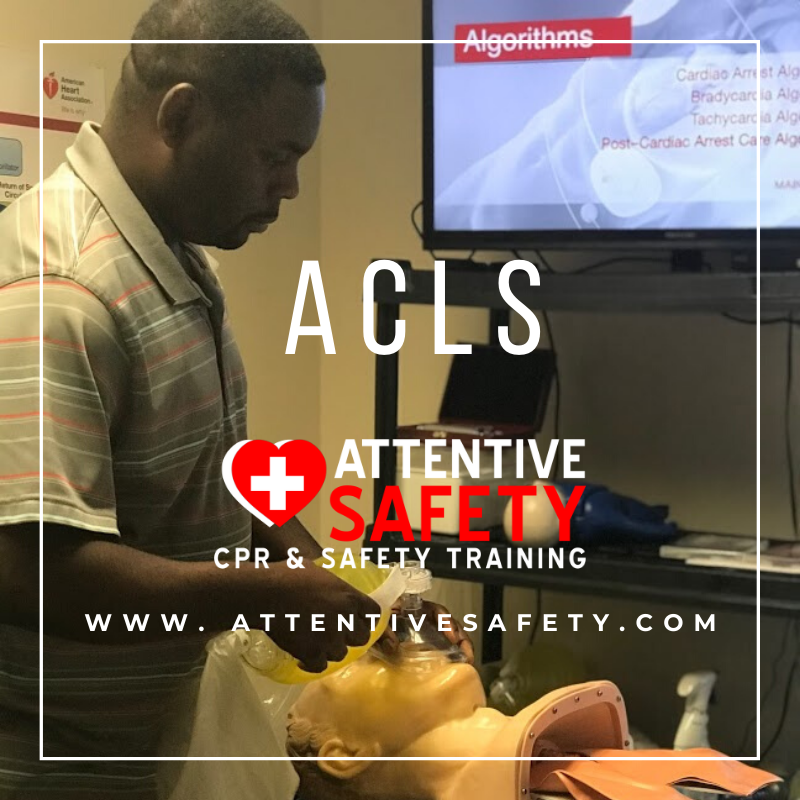 Attentive Safety CPR and Safety Training's ACLS Provider course builds on the foundation of lifesaving Basic Life Support (BLS) for Healthcare Providers skills, emphasizing the importance of continuous, high-quality CPR.