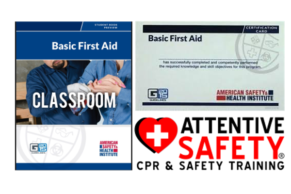 https://www.attentivesafety.com ASHI Basic First Aid