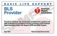 Attentive Safety CPR and Safety Training BLS Provider Card