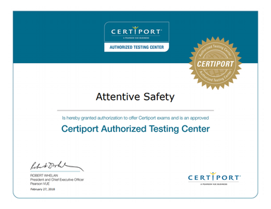 https://www.attentivesafety.com/certifications.html certiport-authorized-testing-center