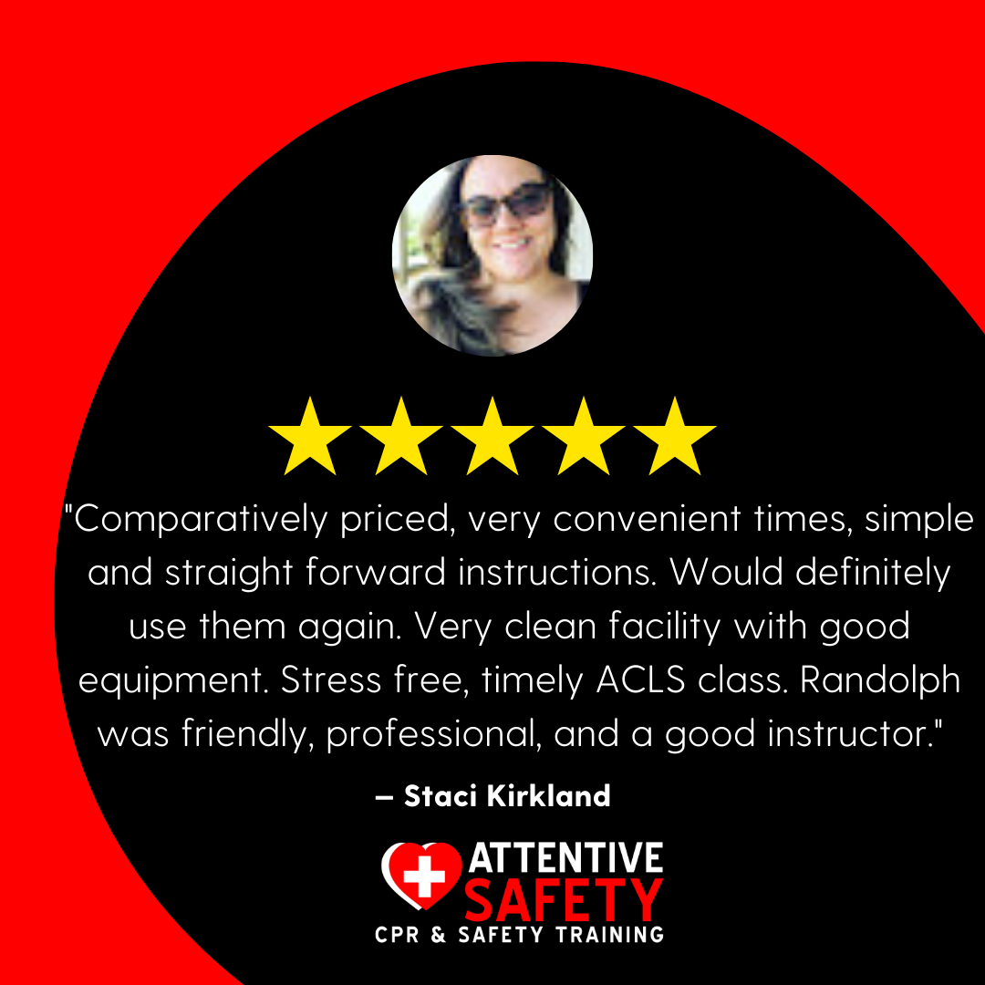 Attentive Safety CPR and Safety Training Google Review